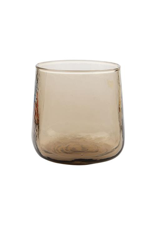 Hammered Short Tumbler Smoky Brown